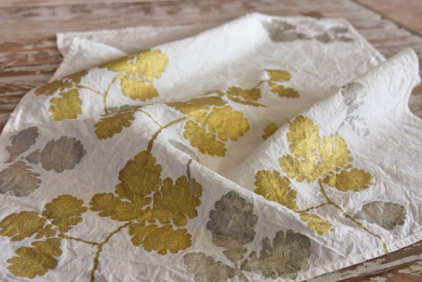 Bertozzi linen tea towel oak leaves