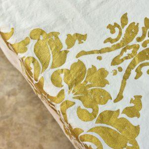Stamperia bertozzi gold tablecloth