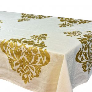 Bertozzi linen tablecloth gold