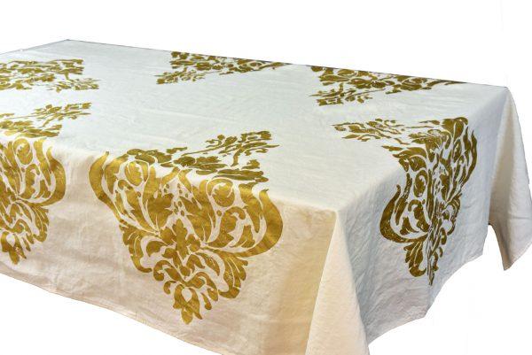 Bertozzi linen tablecloth gold