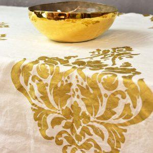 Gold tablecloth Stamperia bertozzi