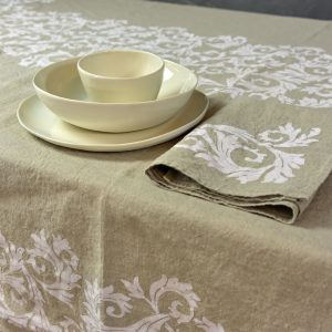 organic hemp table setting