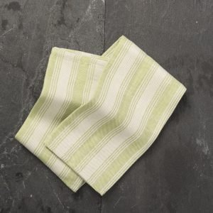 Green artisan kitchen towel