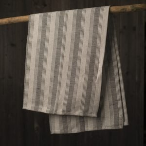 black handcrafted artisan kitchen towel
