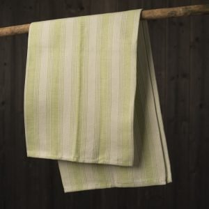 Green italian kitchen towel