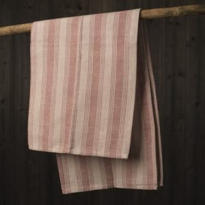 Italian handcrafted red tea towel
