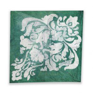 Teal linen napkin