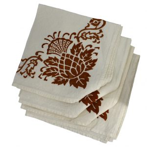 thistle patterned napkins