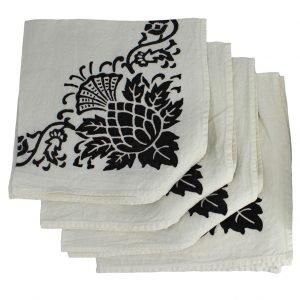 thistle pattern linen napkins
