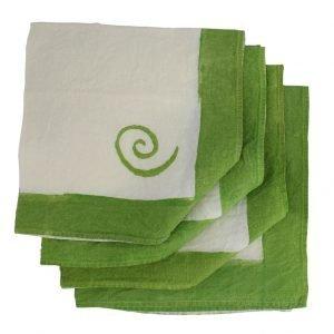 Bertozzi green linen napkins