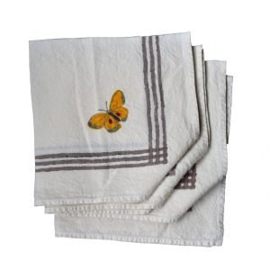 butterfly patterned napkins