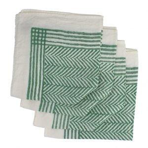Bertozzi chevron linen napkins