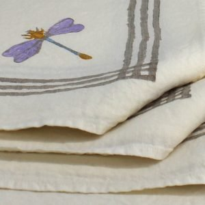 Linen Dragonfly napkins