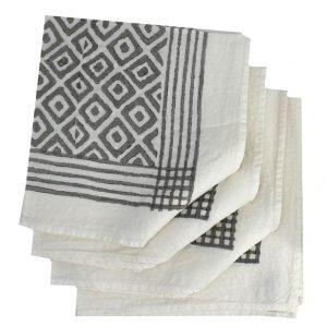 Bertozzi Grey linen napkins