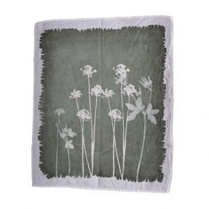 linen tea towel wildflowers