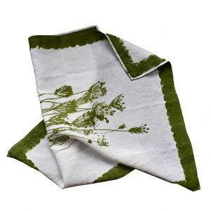 Bertozzi luxury linen tea towel herbs