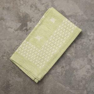 Italian designer green italian linen kitchen towel