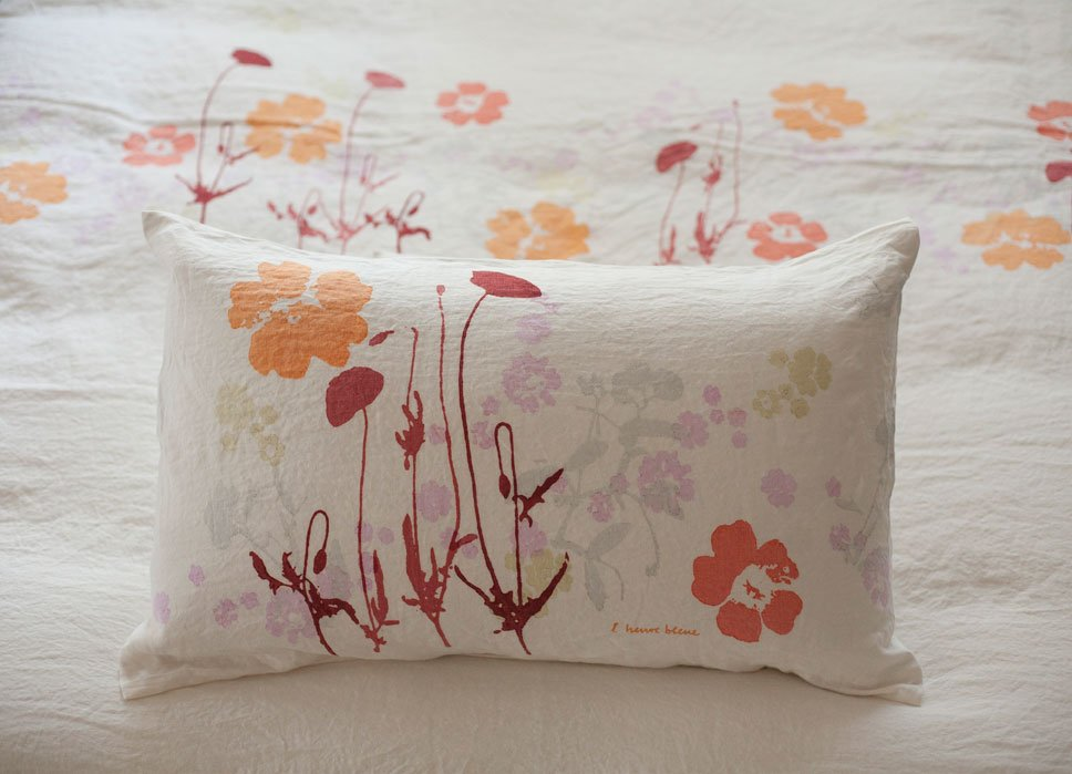 Bertozzi handprinted pillow