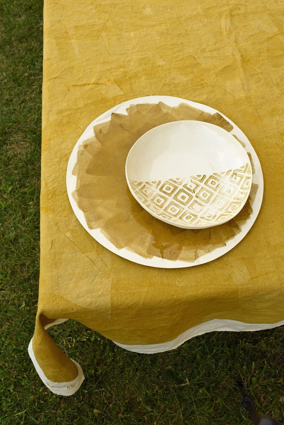 bertozzi colour block tablecloth bespoke made