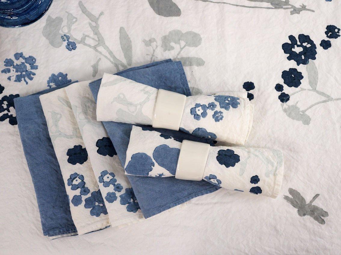 Bertozzi linen napkins flowers