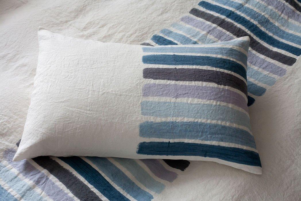 Bertozzi linen pillow stripes
