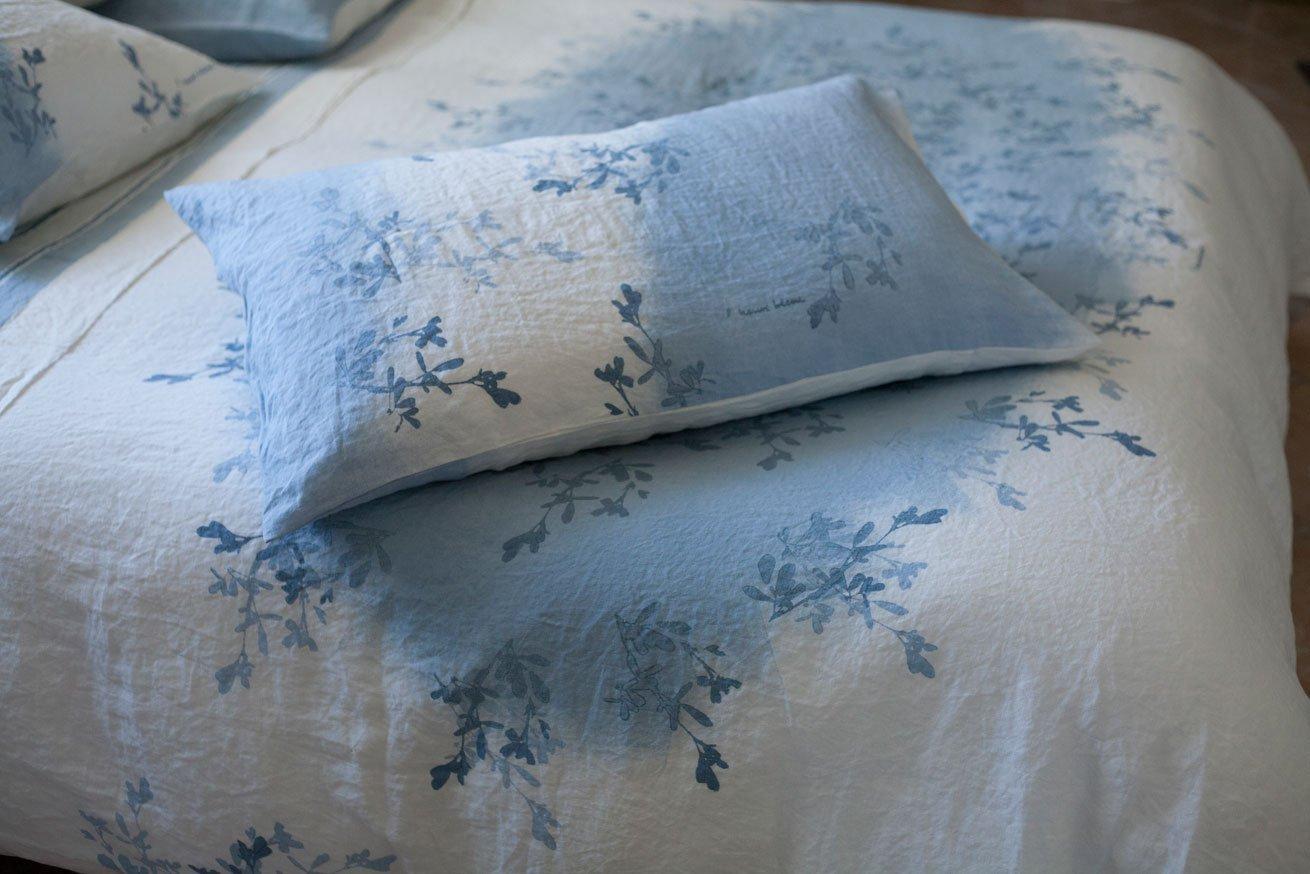 Bertozzi linen pillow flower