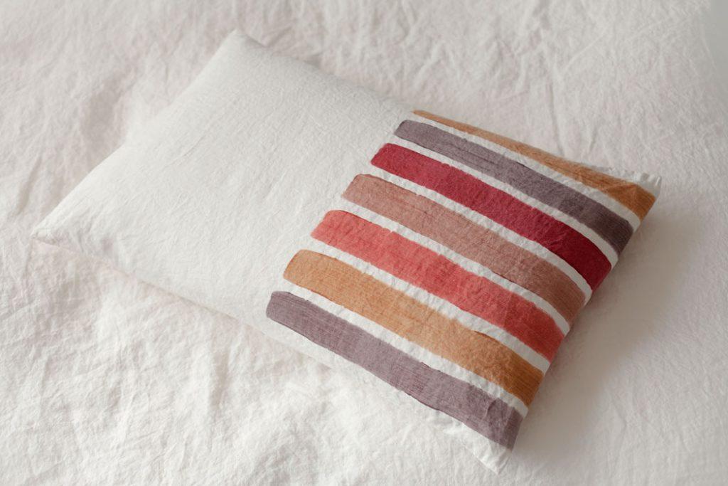 hand painted linen pillow Bertozzi