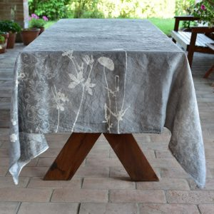 Bertozzi grey linen tablecloth