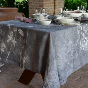 Bertozzi grey linen tablecloth