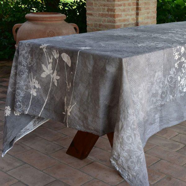 Bertozzi linen tablecloth grey