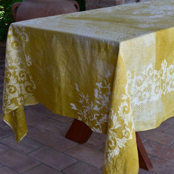 Bertozzi linen tablecloth yellow
