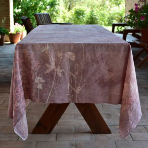 Bertozzi linen tablecloth pink