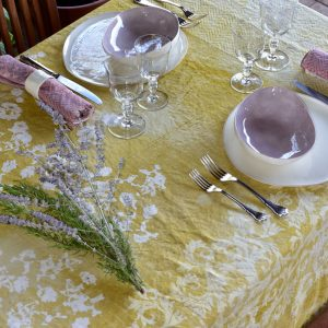 Bertozzi italian yellow tablecloth