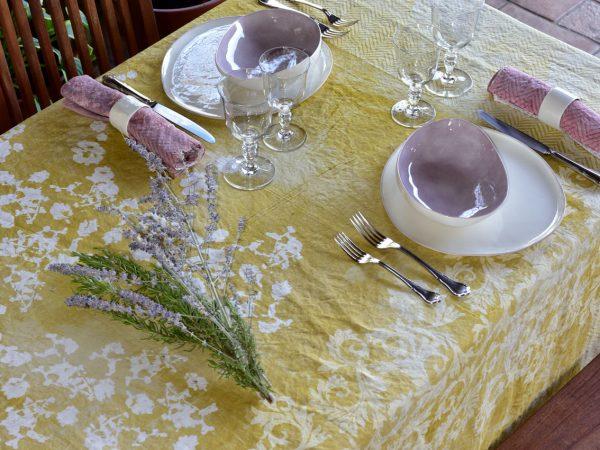 Bertozzi italian yellow tablecloth