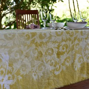 Bertozzi handmade linen tablecloth