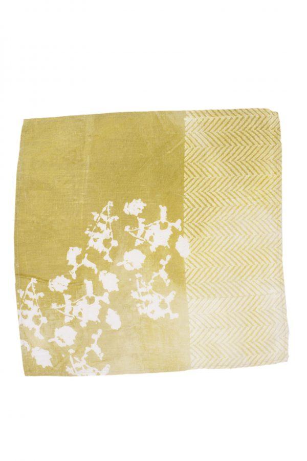Bertozzi linen napkin yellow