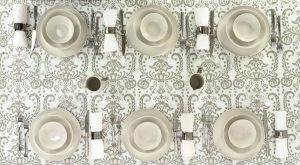 Esclusive Italian tablecloth Silver