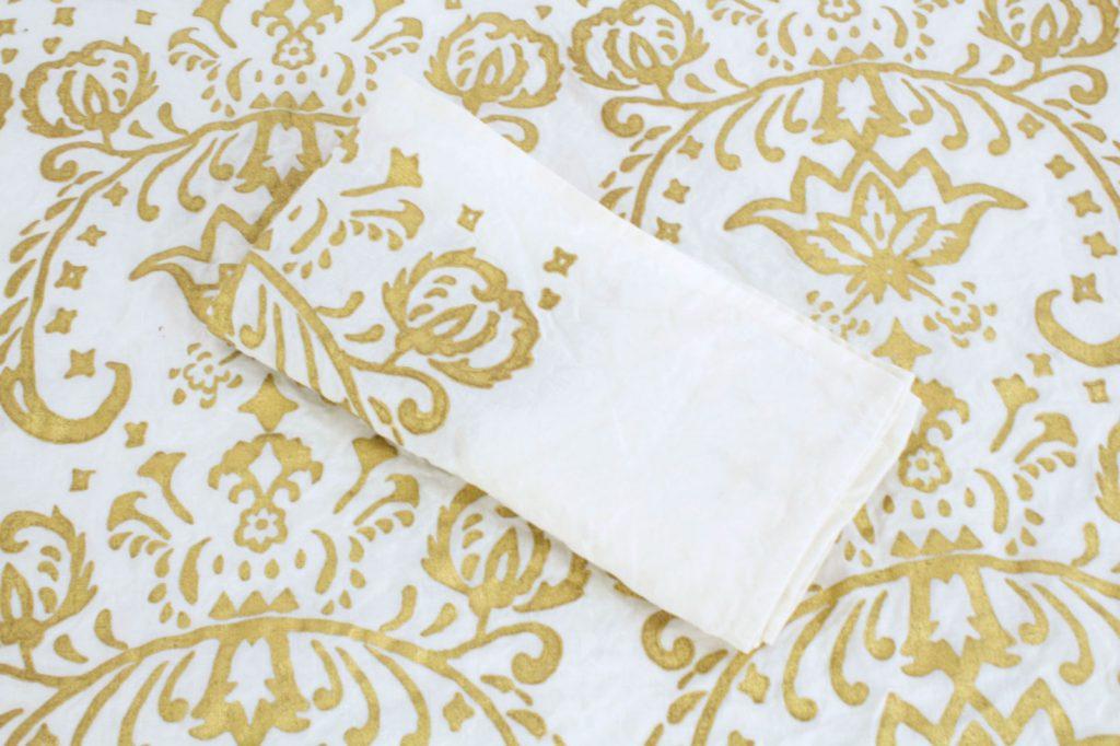 Italian gold luxury linen napkins in bespoke design