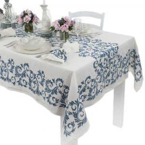 bertozzi designer acanto linen tablecloth