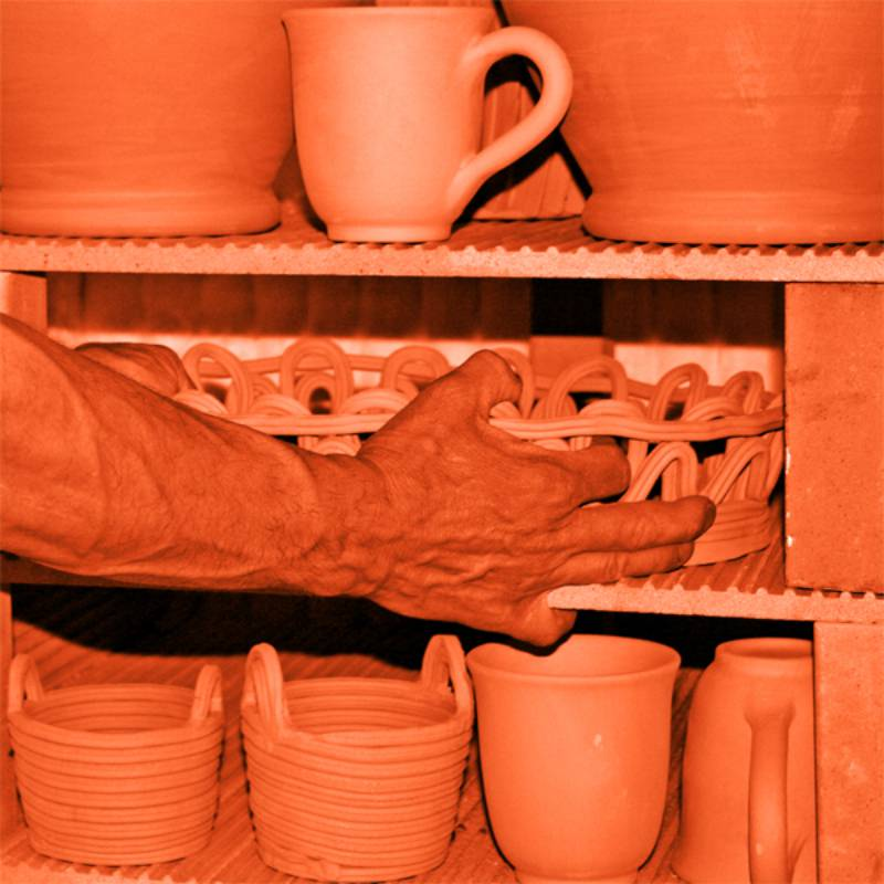 artisan ceramics placed in kiln