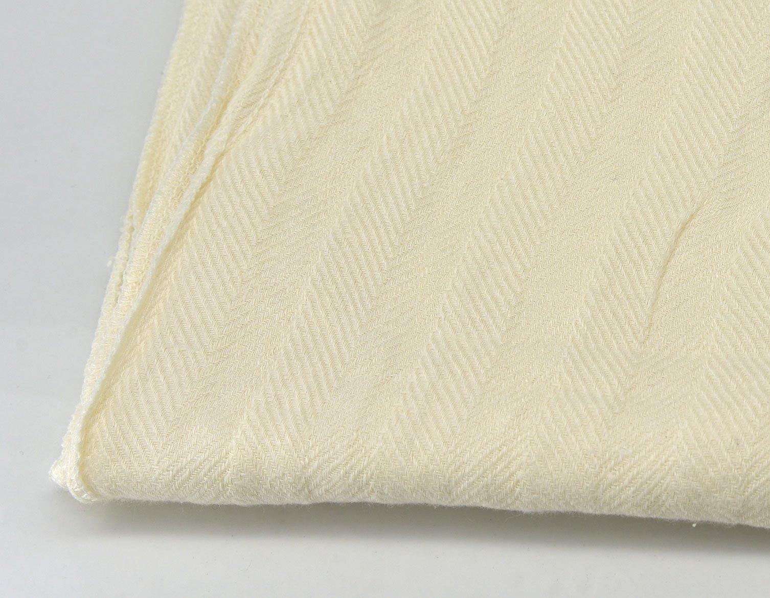 Herringbone Cotton Off white