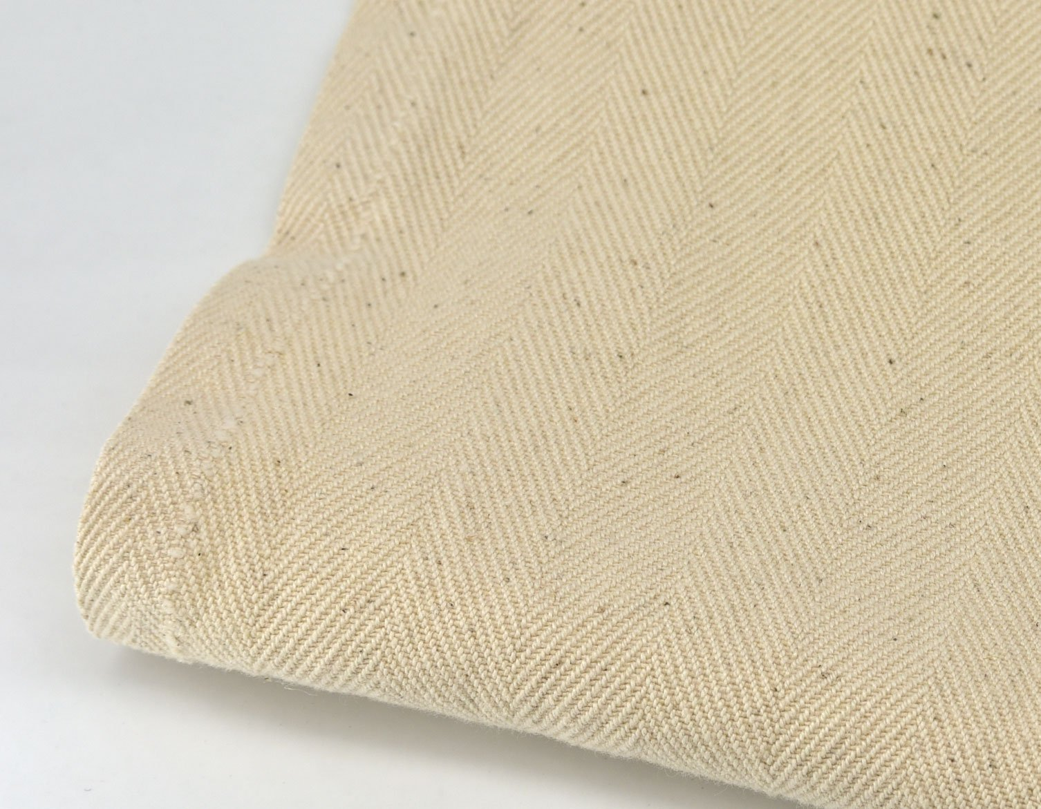 herringbone blended cotton natural colour linen