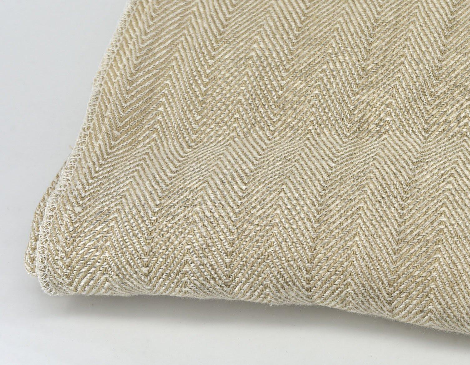 Herringbone Cotton Natural