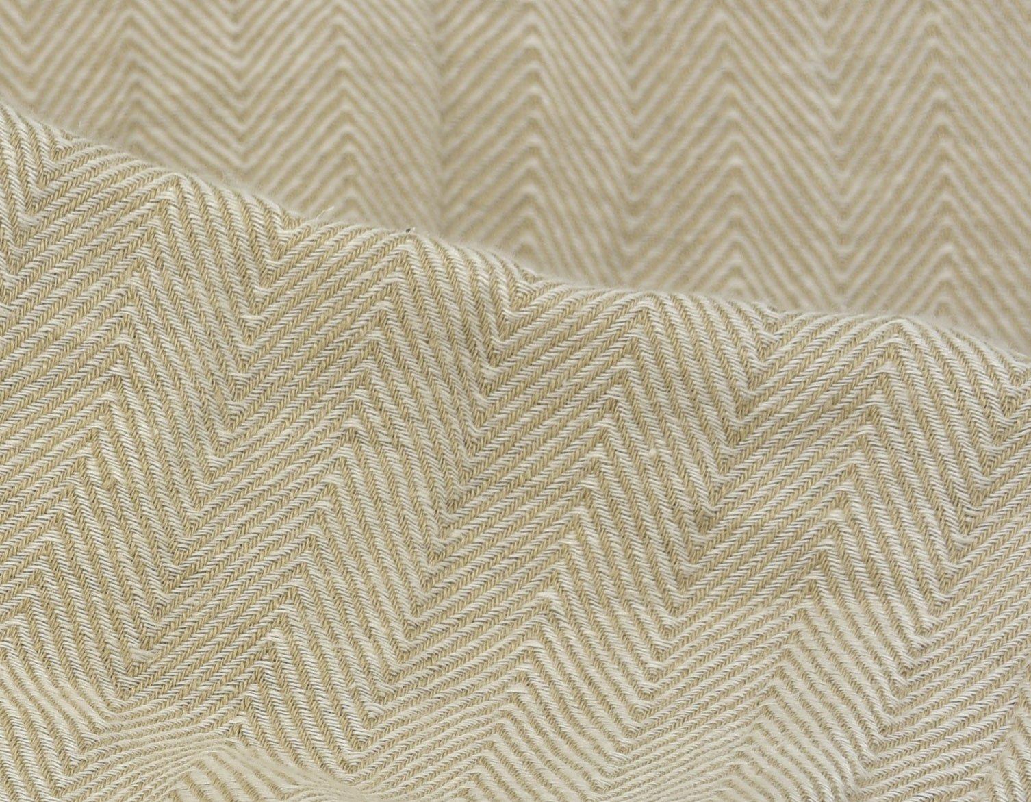 herringbone cotton natural detail