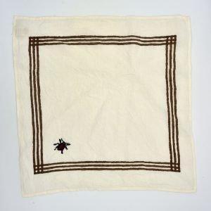 Lucky Ladybird organic linen napkin