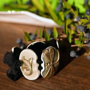 handmade murano glass bracelet grey