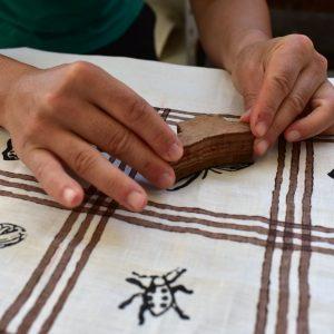 linen spring tablecloth