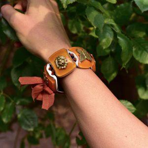 Amber Murano Glass bracelet
