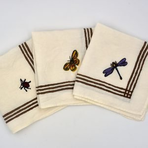 new collection of organic linen spring napkins