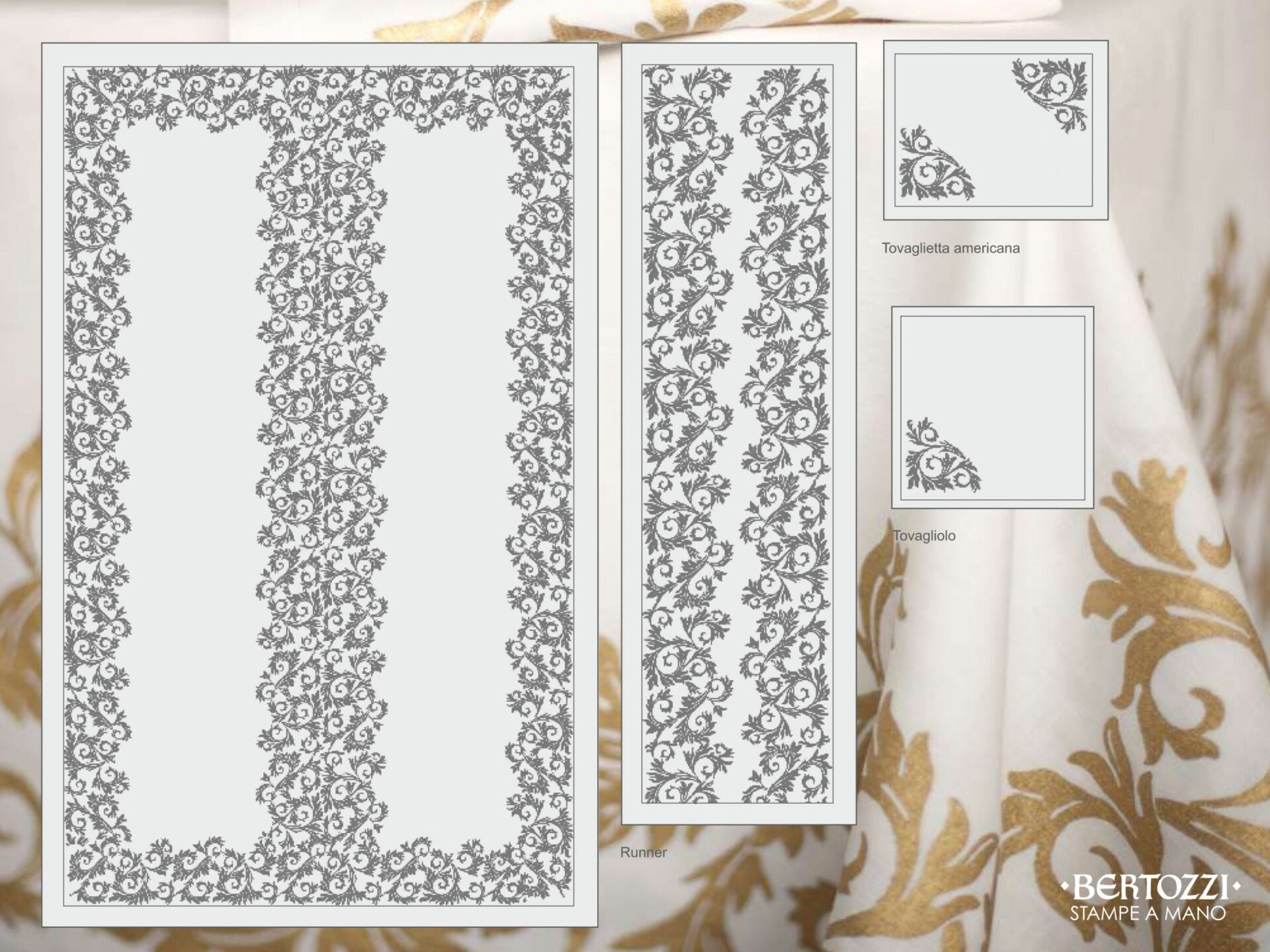 bespoke design of tablecloth